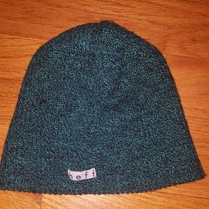 Neff Beanie - Green and Black